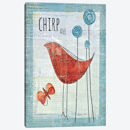 Chirp Ave 3-Piece Canvas #WAC151} by Belinda Aldrich Canvas Wall Art