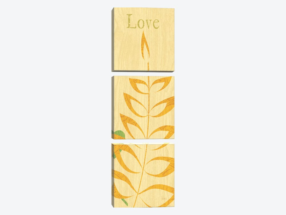 Nature Trio - Love by Veronique 3-piece Canvas Wall Art