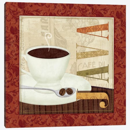 Coffee Cup I Canvas Print #WAC1522} by Veronique Canvas Art