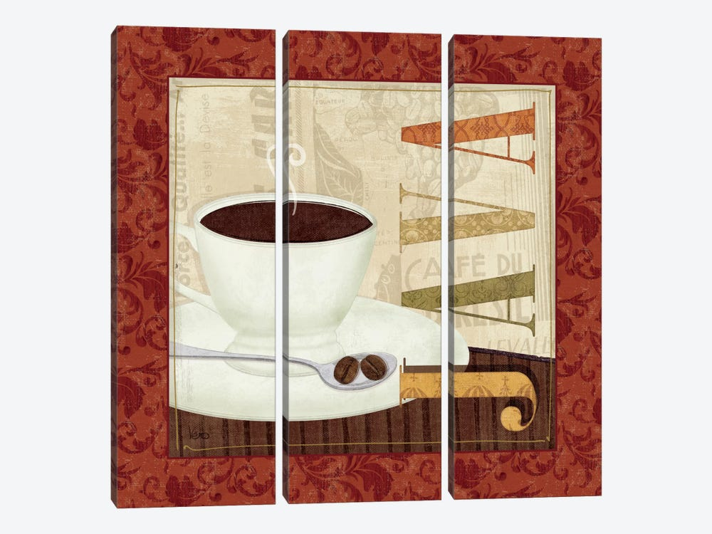 Coffee Cup I by Veronique 3-piece Canvas Wall Art