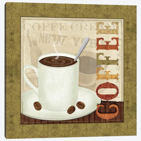 Coffee Cup III Canvas Print #WAC1524} by Veronique Art Print