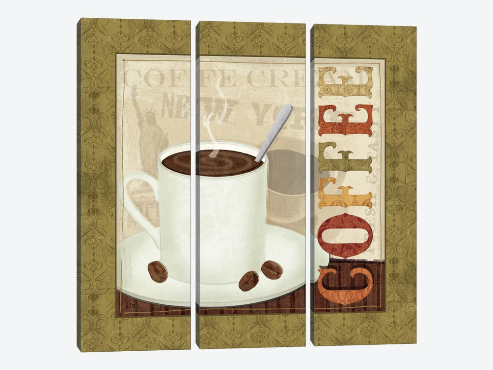 Coffee Cup III by Veronique 3-piece Canvas Artwork