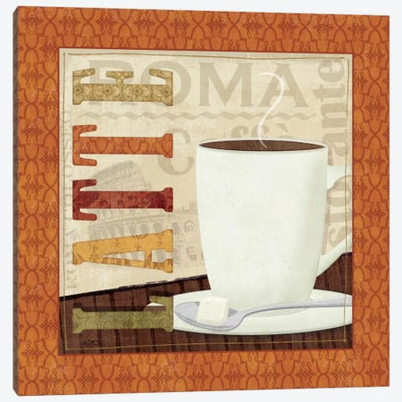Coffee Cup IV Canvas Print #WAC1525} by Veronique Canvas Print