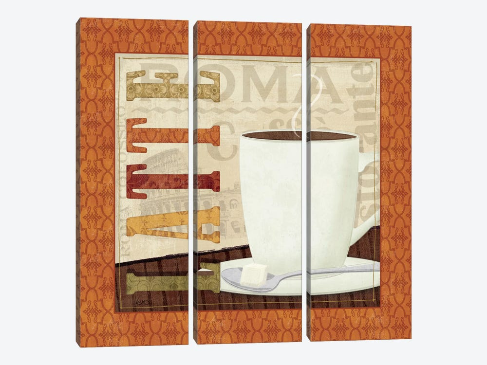 Coffee Cup IV 3-piece Canvas Print