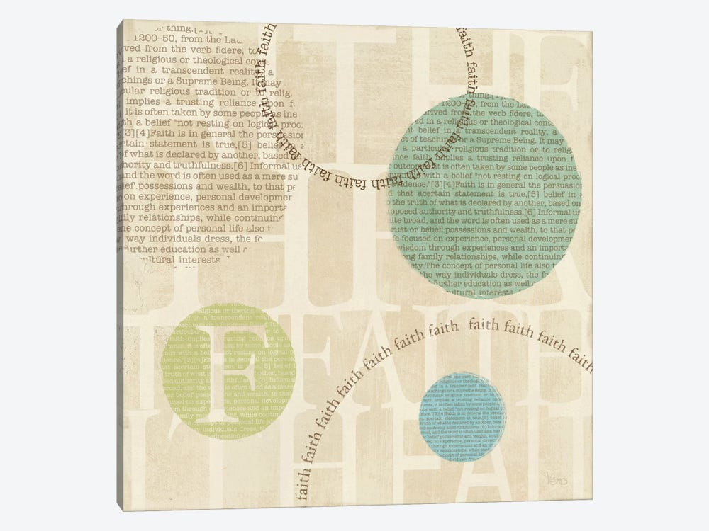 Circle of Words - Faith 1-piece Canvas Artwork