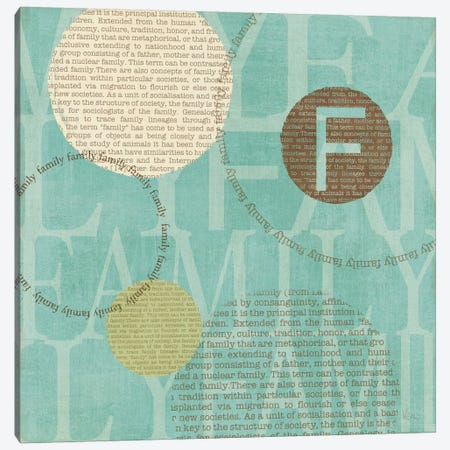 Circle of Words - Family Canvas Print #WAC1529} by Veronique Canvas Art