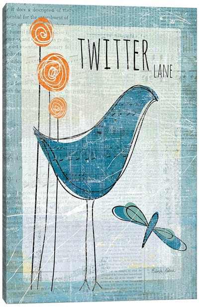 Twitter Lane Canvas Art Print