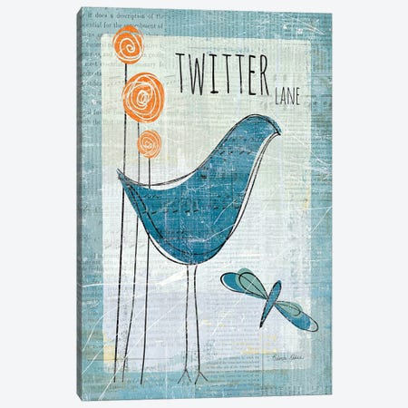 Twitter Lane 3-Piece Canvas #WAC152} by Belinda Aldrich Canvas Artwork
