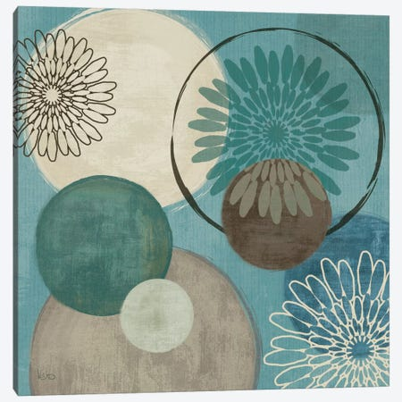 Flora Mood I - Blue Canvas Print #WAC1535} by Veronique Canvas Artwork