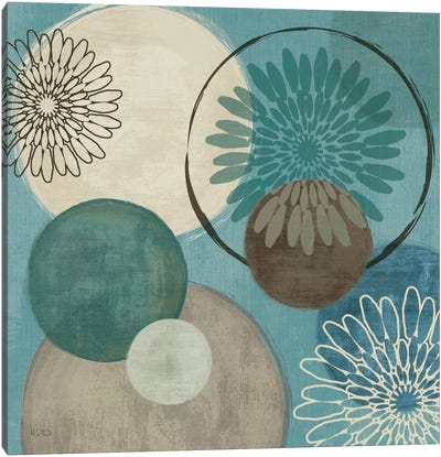 Flora Mood I - Blue Canvas Art Print