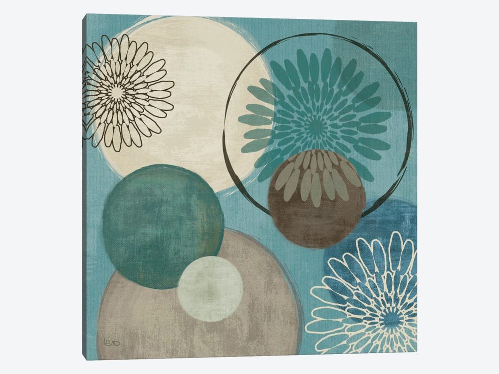 Flora Mood I - Blue by Veronique 1-piece Canvas Wall Art