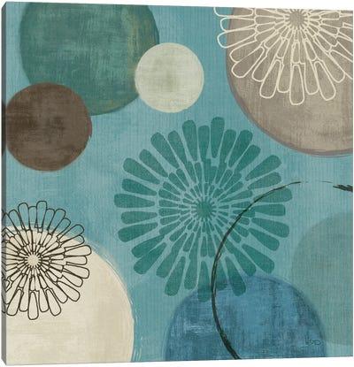 Flora Mood II - Blue Canvas Art Print