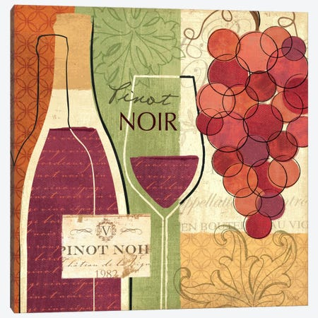 Wine and Grapes I Canvas Print #WAC1537} by Veronique Canvas Artwork