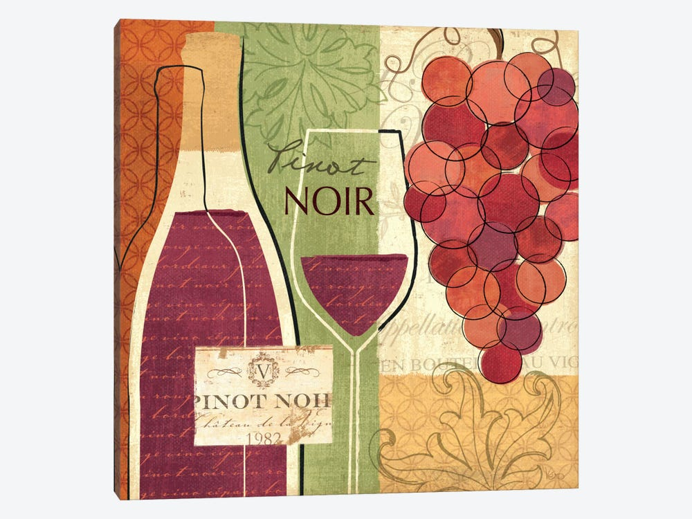 Wine and Grapes I by Veronique 1-piece Canvas Wall Art