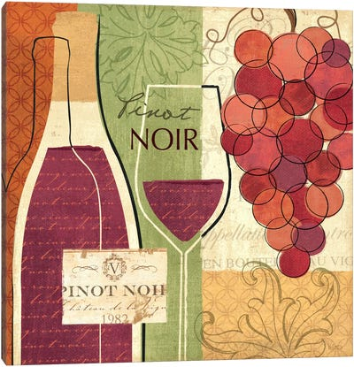 Wine and Grapes I Canvas Art Print
