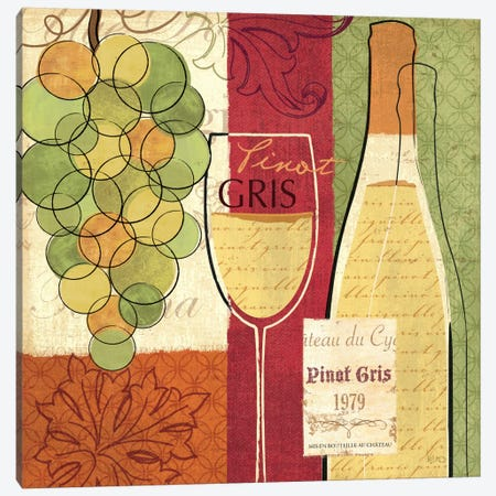 Wine and Grapes II Canvas Print #WAC1538} by Veronique Canvas Print