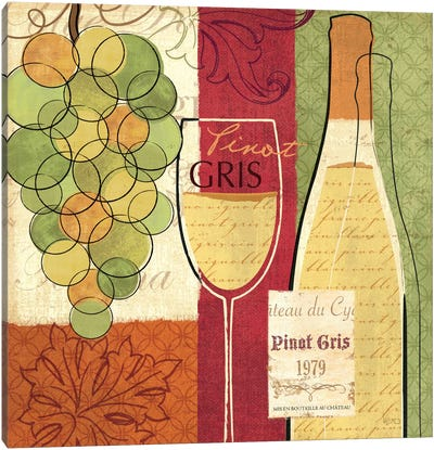 Wine and Grapes II Canvas Print #WAC1538