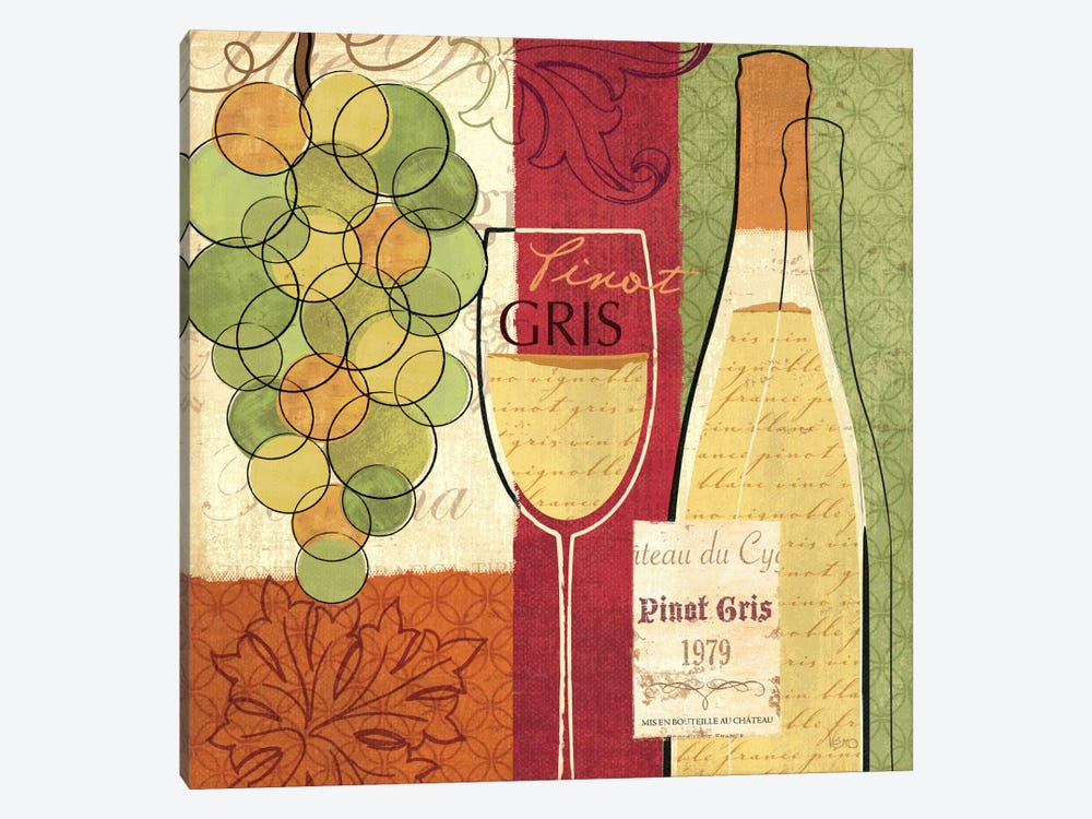 Wine and Grapes II by Veronique 1-piece Art Print