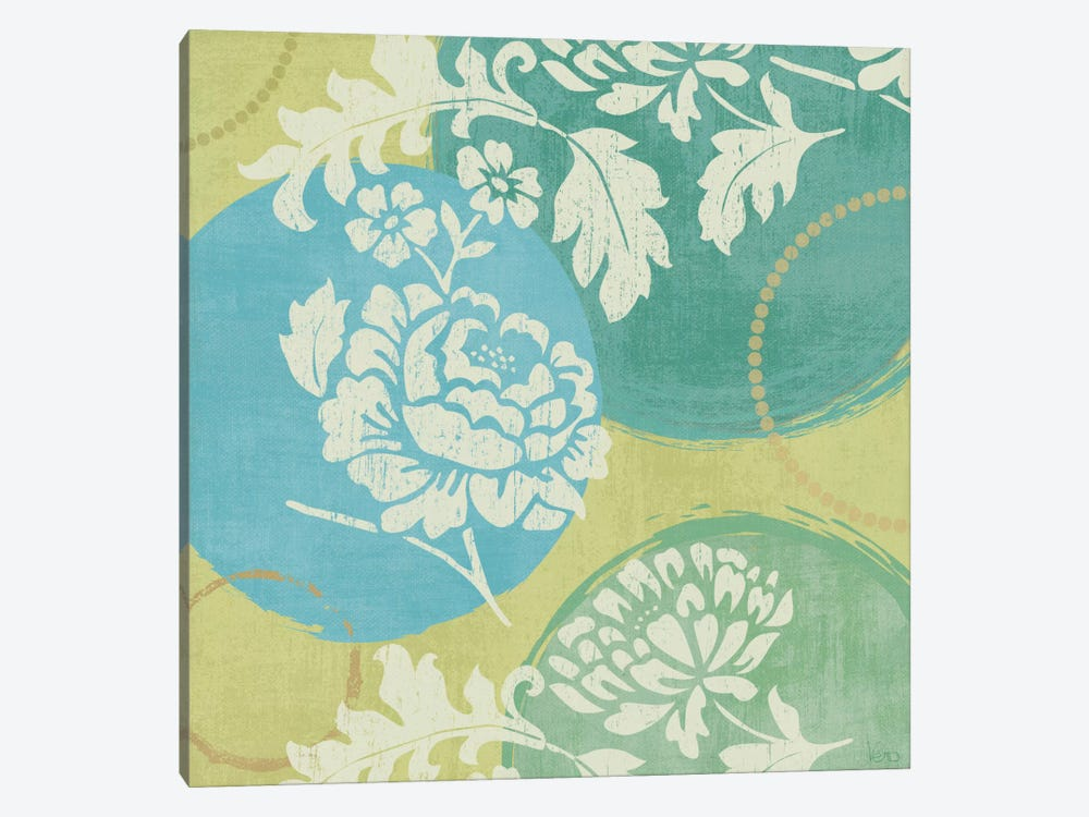 Floral Decal Turquoise I  by Veronique 1-piece Art Print