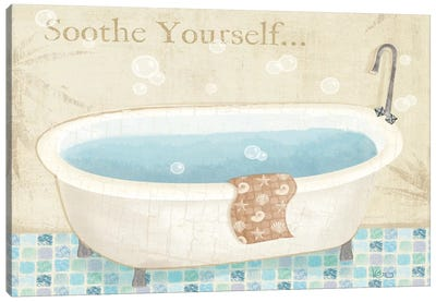 Mosaic Bath I  Canvas Art Print
