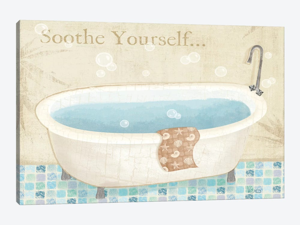 Mosaic Bath I  by Veronique 1-piece Canvas Art Print