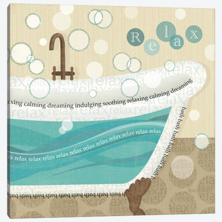 Dancing Bubbles II  Canvas Print #WAC1553} by Veronique Canvas Art Print