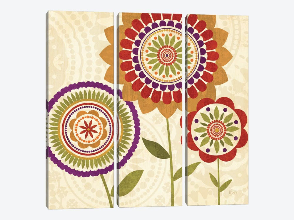 Fall Flowers II by Veronique 3-piece Canvas Art