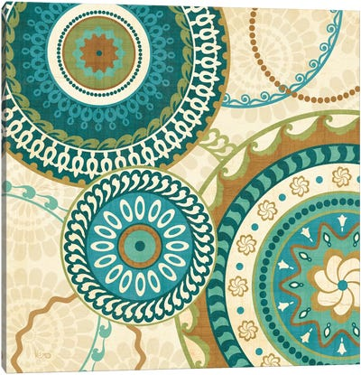 Owl Forest Suzani I  Canvas Art Print
