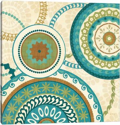 Owl Forest Suzani II  Canvas Art Print