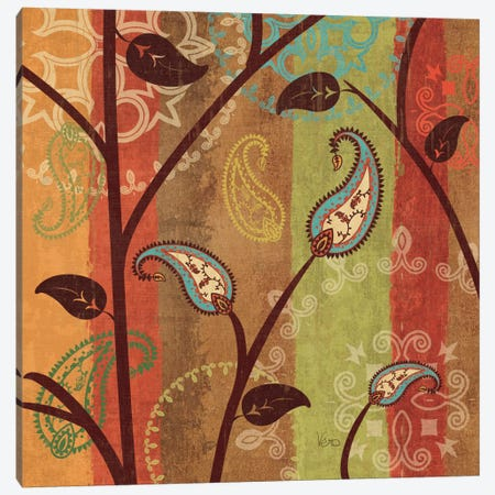 Paisley Garden I  Canvas Print #WAC1560} by Veronique Canvas Art