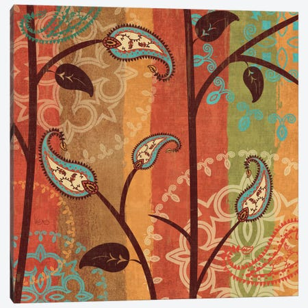 Paisley Garden II  Canvas Print #WAC1561} by Veronique Canvas Artwork