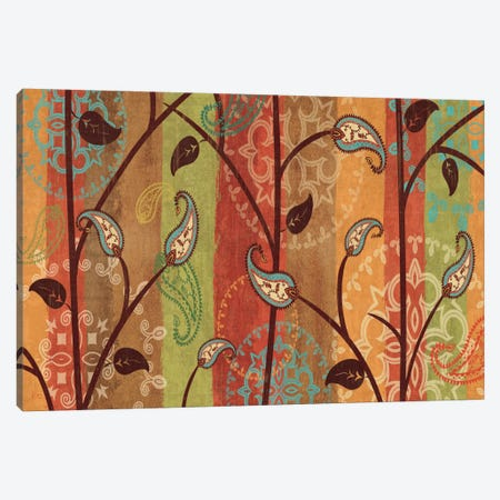 Paisley Garden  3-Piece Canvas #WAC1562} by Veronique Canvas Wall Art