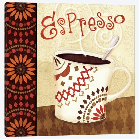 Cup of Joe I  Canvas Print #WAC1563} by Veronique Canvas Artwork