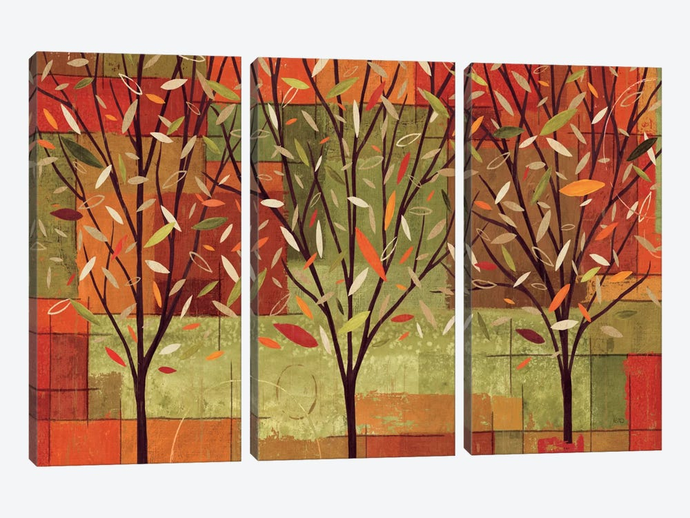 Watercolor Forest II by Veronique 3-piece Canvas Print