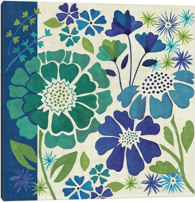 Blue Garden I Canvas Art Print