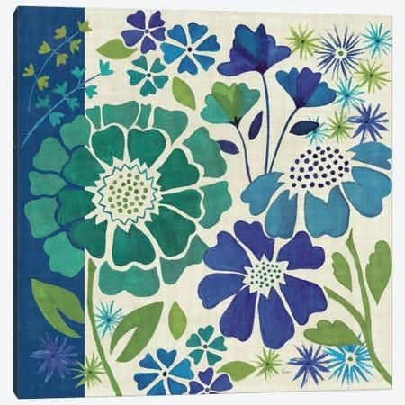 Blue Garden I  Canvas Print #WAC1572} by Veronique Canvas Print