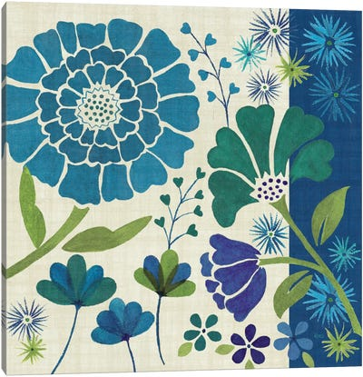 Blue Garden II  Canvas Art Print