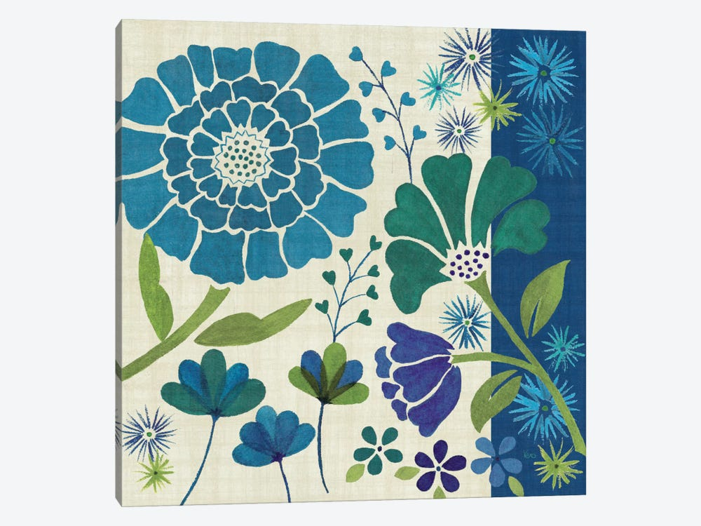Blue Garden II by Veronique 1-piece Canvas Wall Art