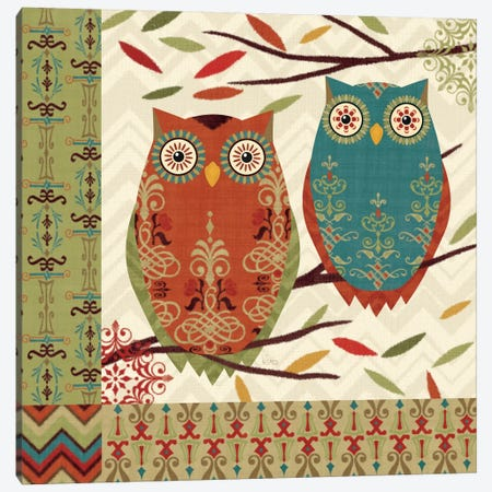 Hoot I  Canvas Print #WAC1574} by Veronique Canvas Artwork
