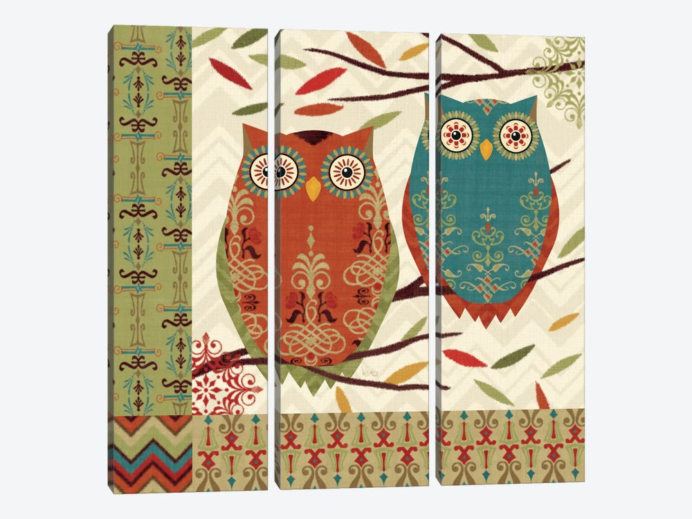 Hoot I 3-piece Canvas Print