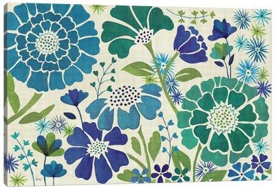 Blue Garden  Canvas Art Print