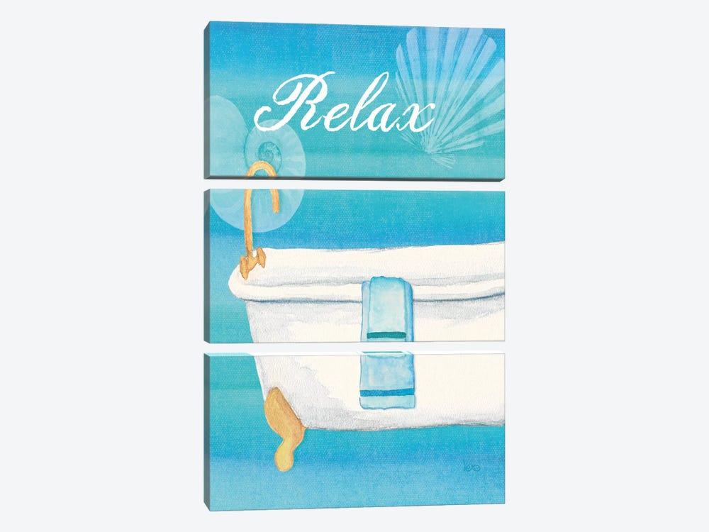 Seashells Spa II No Border by Veronique 3-piece Canvas Print