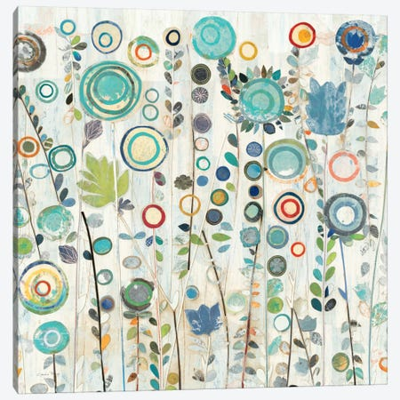 Ocean Garden I Square Canvas Print #WAC157} by Candra Boggs Canvas Print