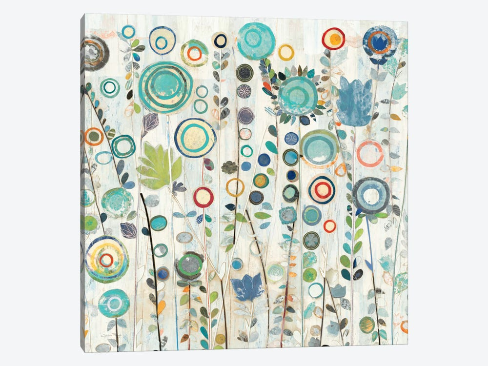 Ocean Garden I Square by Candra Boggs 1-piece Canvas Print