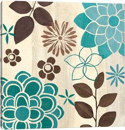 Abstract Garden Blue II  Canvas Print #WAC1580