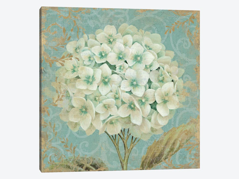 Hydrangea Square II by Wild Apple Portfolio 1-piece Canvas Wall Art