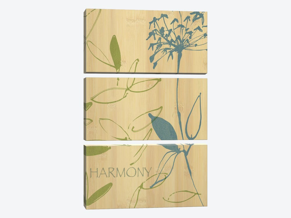 Harmony by Wild Apple Portfolio 3-piece Canvas Print