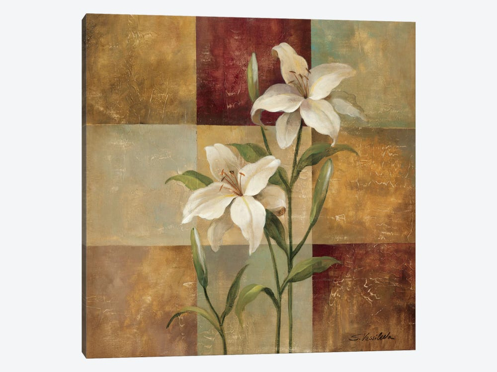 Lily Square by Silvia Vassileva 1-piece Canvas Wall Art