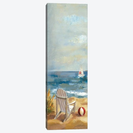 Sunny Beach Panel I Canvas Print #WAC1594} by Wild Apple Portfolio Canvas Art