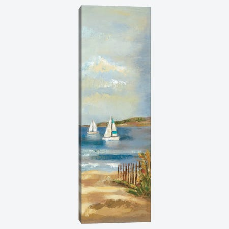 Sunny Beach Panel II Canvas Print #WAC1595} by Wild Apple Portfolio Canvas Wall Art